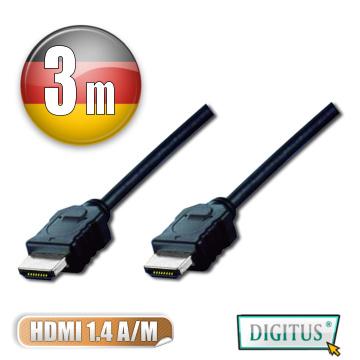 DIGITUS HDMI 1.4a圓線3公尺typeA