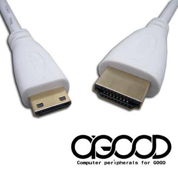 【A-GOOD】HDMI TO Mini HDMI 高畫質乙太網路數位影音傳輸線-A公對C公-1公尺
