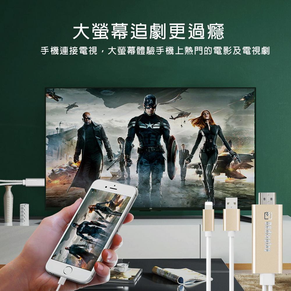 [AL02] รุ่นที่สอง OKdisplay Apple HDMI mirror video transmission line (บวก 2 ของขวัญใหญ่) (สีแบบสุ่ม)