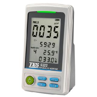 泰仕 TES-5322 PM2.5空氣品質監測計 USB介面《監測環境的PM2.5濃度》
