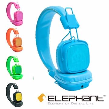 ELEPHANT 王者頭戴式線控耳機 NEON-BLUE (IPHS009BL)