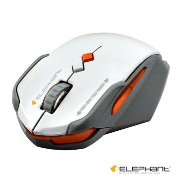 ELEPHANT 鐵武士 靜音藍光無線雷射滑鼠(WEMM516W)白色