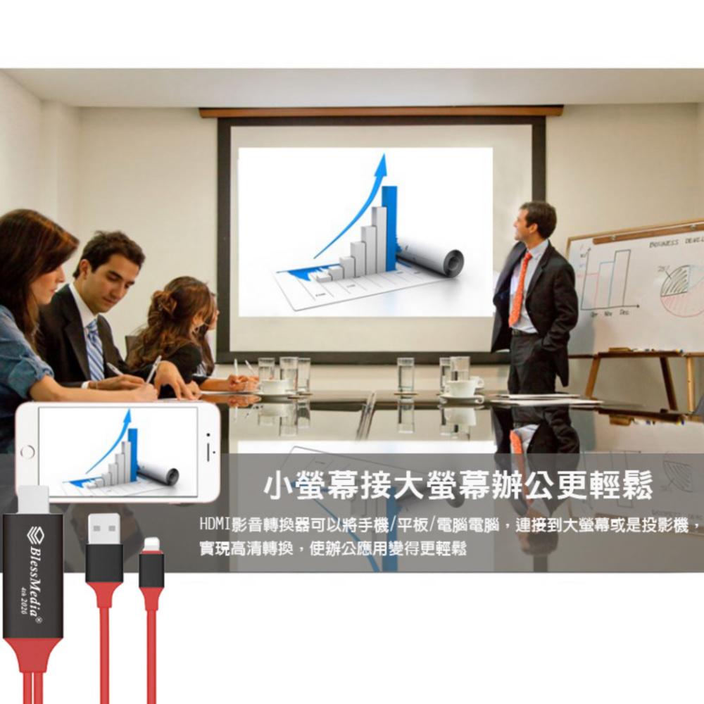 [รุ่น 2020 FR12R หลงใหลสีแดง] BlessMedia แอปเปิ้ลสี่รุ่นโดยเฉพาะสาย HDMI เสียงและวิดีโอมิเรอร์ (รวม 3 ของขวัญ)