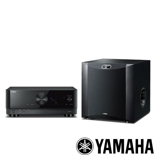 YAMAHA 環繞擴大機 +重低音組合 RX-V4A + NS-SW300(黑木紋)