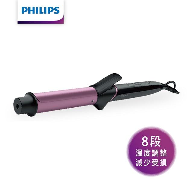 【飛利浦】完美髮梢陶瓷溫控電捲棒BHB868