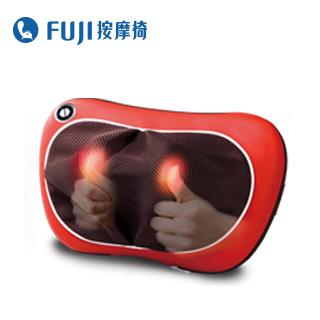 FUJI 溫揉按摩枕 FG-178 紅色