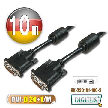曜兆DIGITUS DVI-D (24+1)*10公尺圓線(公-公)