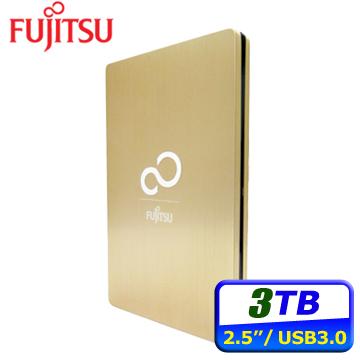 Fujitsu Ultra Slim 3TB USB3.0 2.5吋行動硬碟-金