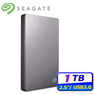 ★輕薄下殺Seagate Backup Plus V2 Slim 1TB USB3.0 2.5吋行動硬碟-銀