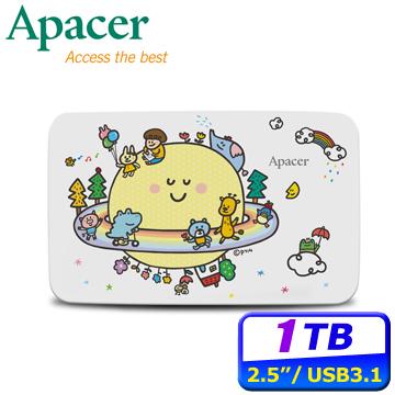 Apacer宇瞻 AC233 1TB 2.5吋行動硬碟(P714星球聯名款)