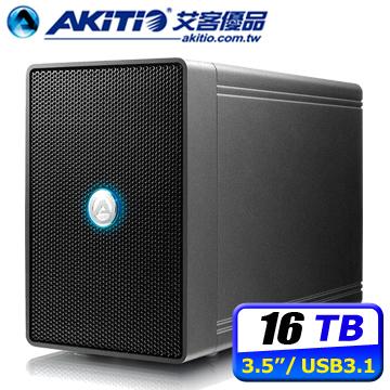 AKiTiO 鐵甲威龍 U31C 16TB USB3.1 2Bay 3.5吋外接硬碟磁碟陣列