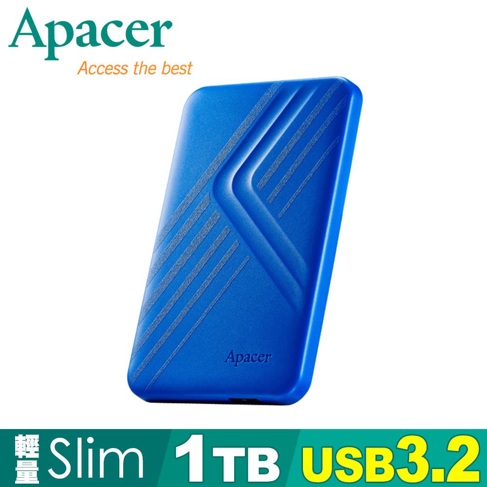 Apacer宇瞻AC236 1TB USB3.2 Gen1行動硬碟-紳士藍