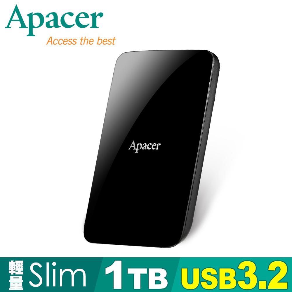 Apacer宇瞻 AC233 1TB USB3.2 Gen 1 2.5吋行動硬碟