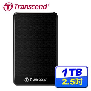 創見StoreJet 25A3 1TB USB 3.1 2.5吋抗震行動硬碟(黑)