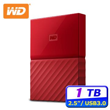 ★入門備份首選WD My Passport 1TB 2.5吋行動硬碟(火紅)