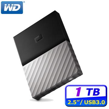WD My Passport Ultra 1TB USB3.0 2.5吋行動硬碟黑銀)