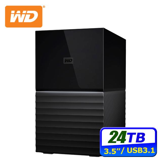 WD My Book Duo 24TB(12TBx2) 3.5吋雙硬碟儲存