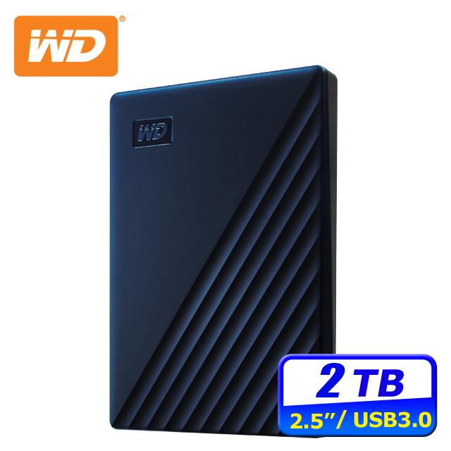 WD My Passport for Mac 2TB USB-C 2.5吋行動硬碟(WDBA2D0020BBL-WESN)