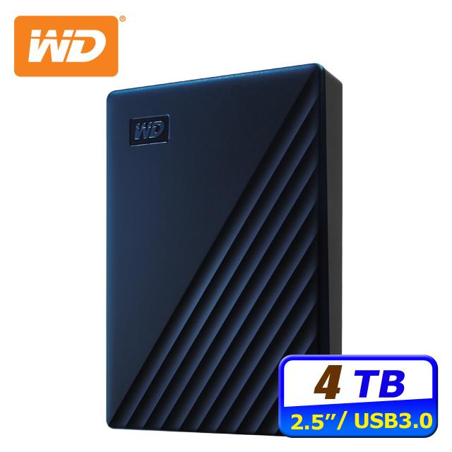 WD My Passport for Mac 4TB USB-C 2.5吋行動硬碟(WDBA2F0040BBL-WESN)
