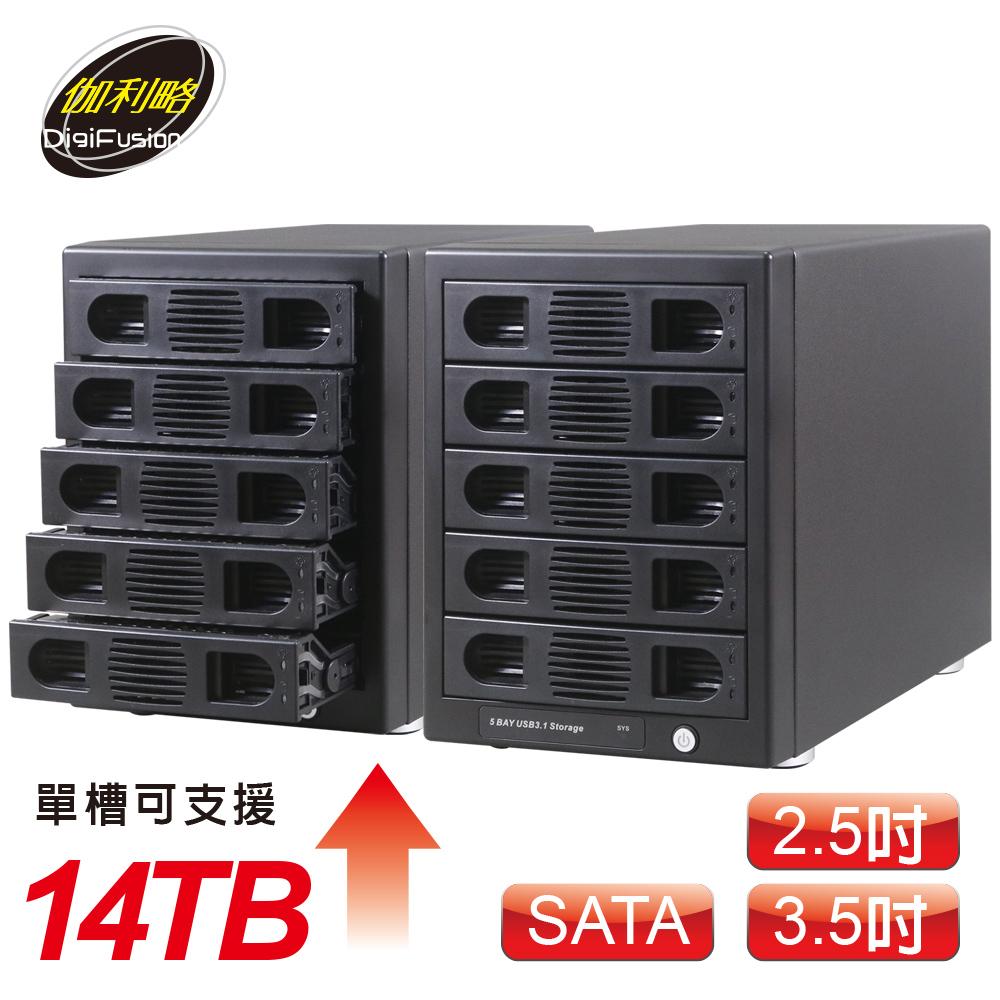 伽利略 USB3.1 Gen2 五層抽取式硬碟外接盒