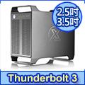 AKiTiO 雷霆戰艦 3X 3.5吋/2.5吋Thunderbolt 3 - 4bay 外接盒 (支援macOS)