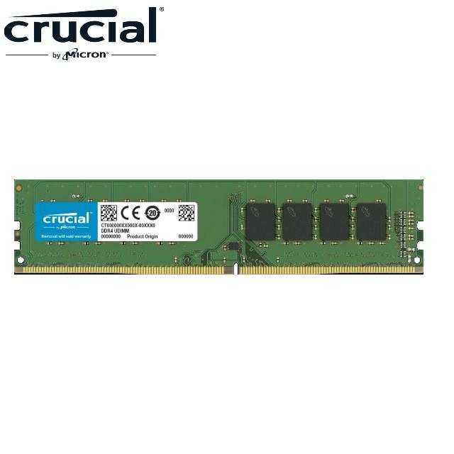 Micron Crucial 美光 DDR4 2400 4GB ECC U-DIMM 伺服器記憶體(SRx8)