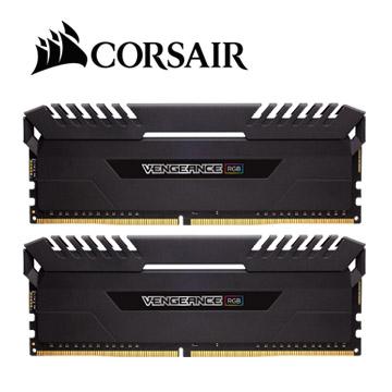 CORSAIR 海盜船 Vengeance RGB DDR4 3200 16GBx2 超頻記憶體(黑)(CMR32GX4M2D3200C16)