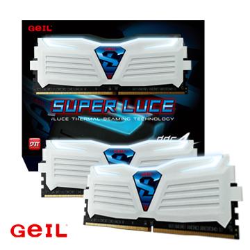 GeIL D4 白色_極光系列 16GB(8GX2)3000Mhz 桌上型電腦記憶體