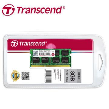 創見 TS系列 8GB DDR3-1600 筆記型記憶體