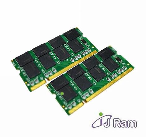 J-RAM 2GB(1GB*2) DDR1 333 筆記型雙通道記憶體