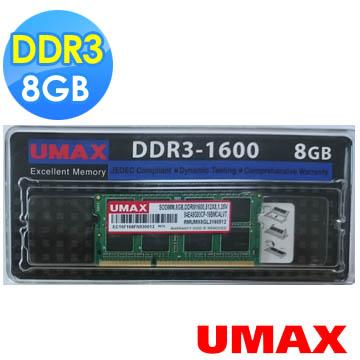 UMAX 8GB SODIMM D3 1600 512*8 1.35V