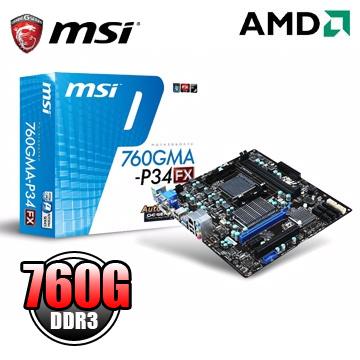 全固態/真正支援AM3+125W CPU微星 760GMA-P34(FX) 主機板