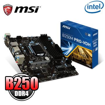 (C+M) 微星 B250M PRO-VDH 主機板 + Intel Core i3 7100 中央處理器(盒裝)