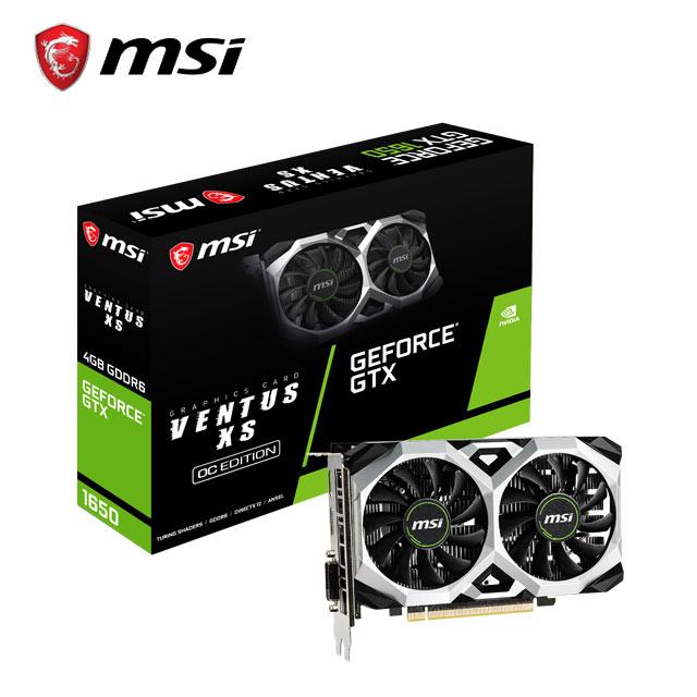 微星 GeForce GTX1650 D6 VENTUS XS OC 顯示卡+微星 H310M PRO-VDH PLUS 主機板