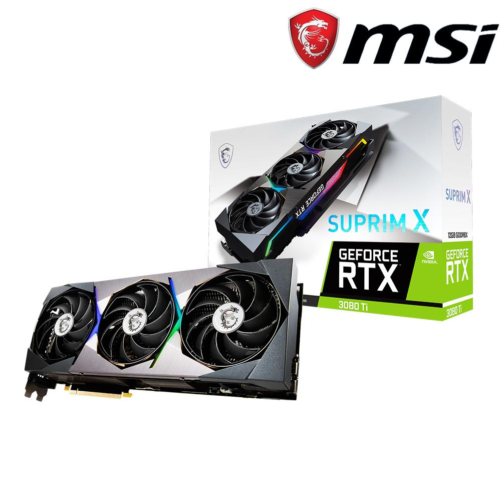 微星 GeForce RTX3080 Ti SUPRIM X 12G 顯示卡+微星 X470 GAMING PLUS MAX 主機板