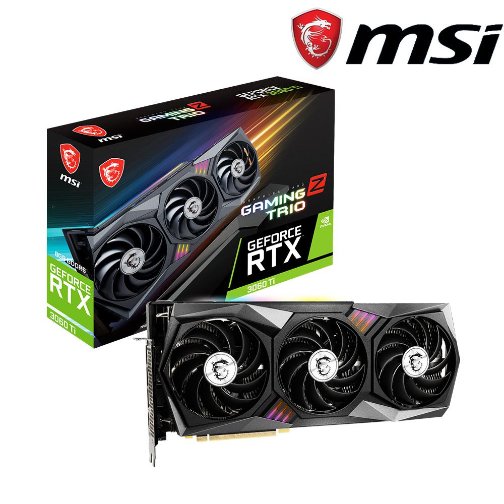 微星 GeForce RTX 3060 Ti GAMING Z TRIO 8G LHR 顯示卡+X470 GAMING PLUS MAX+650W
