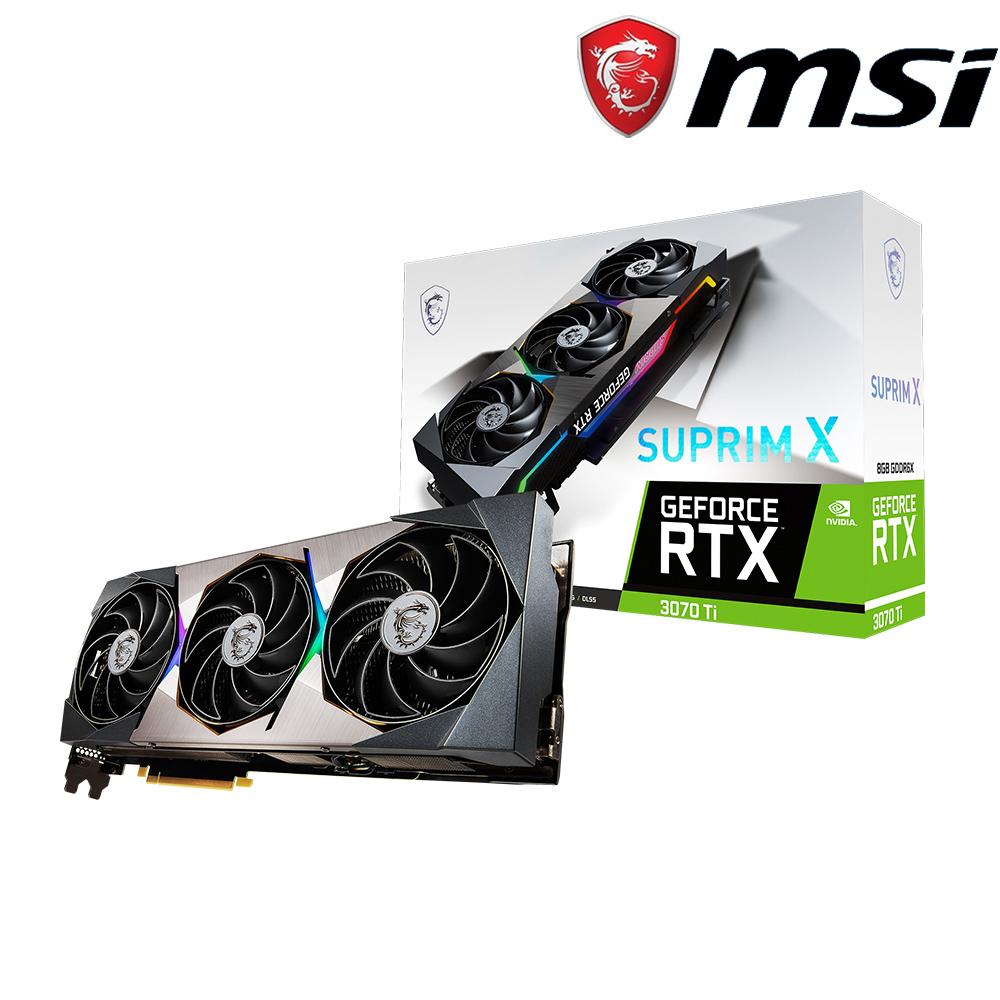微星 GeForce RTX 3070 Ti SUPRIM X 8G 顯示卡+微星 X470 GAMING PLUS MAX 主機板