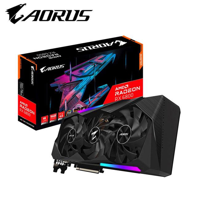 技嘉 AORUS Radeon™ RX 6800 XT MASTER TYPE C 16G 顯示卡