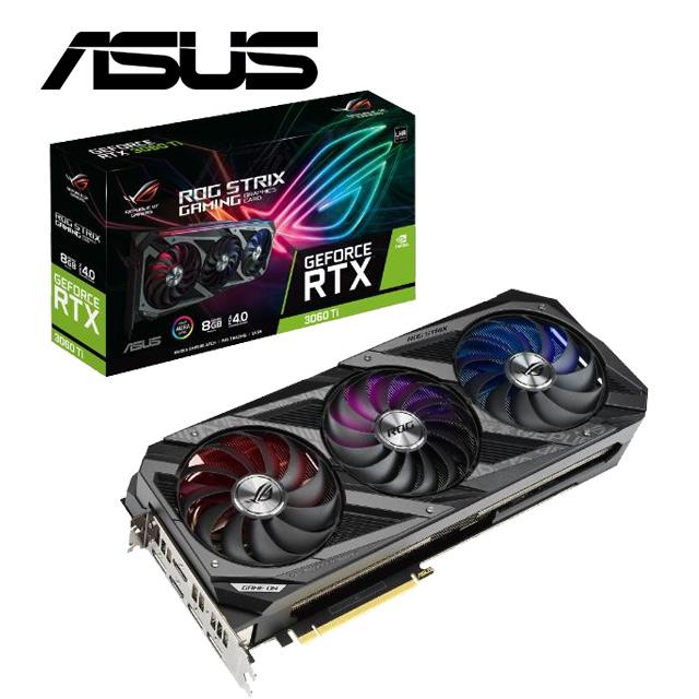 【ASUS華碩組】Strix GeForce RTX 3060 Ti V2+B560-G+24D5MT+SSD外接盒