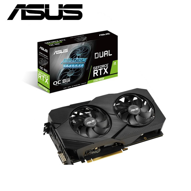華碩 Dual GeForce® RTX2060 SUPER™ O8G EVO V2 顯示卡