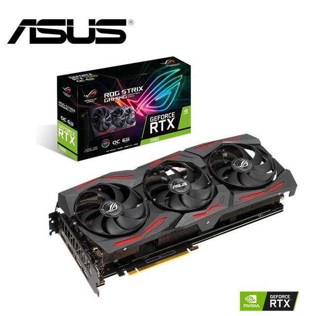 華碩 ROG STRIX GeForce RTX2060 O6G EVO GAMING 顯示卡
