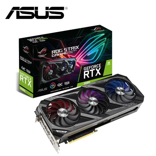 華碩 ROG Strix GeForce RTX™ 3080 O10G GAMING 顯示卡