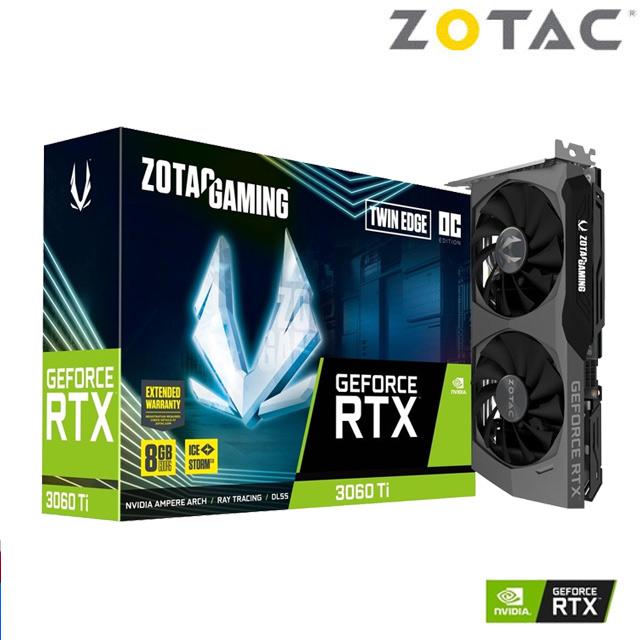 ZOTAC GAMING GeForce RTX™ 3060 Ti Twin Edge O8G 顯示卡