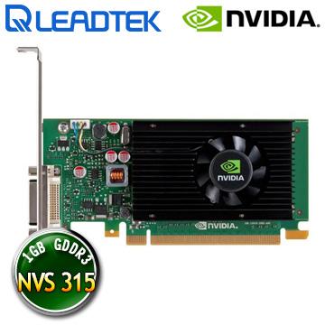 麗臺Leadtek NVIDIA Quadro NVS 315 1GB DDR3 64bit PCI-E 工作站繪圖卡