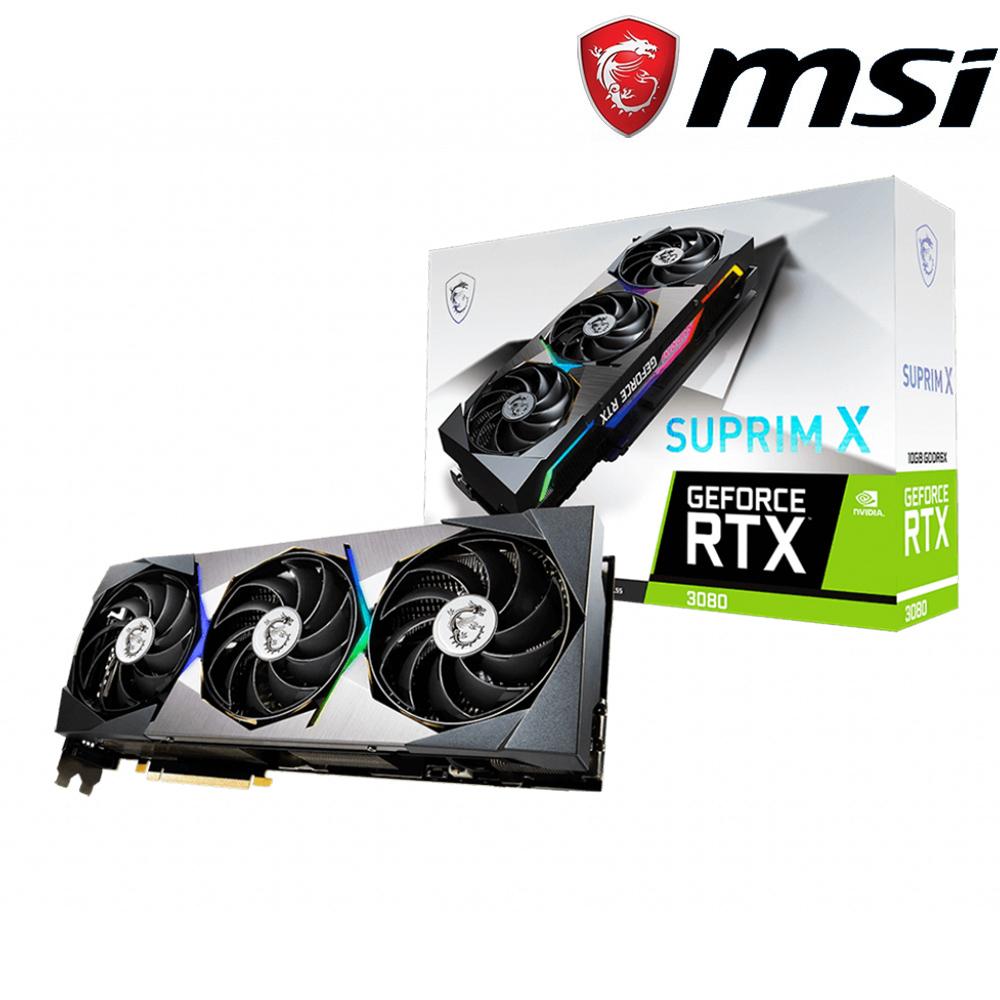 微星 GeForce RTX3080 SUPRIM X 10G LHR 顯示卡+Z590+850W
