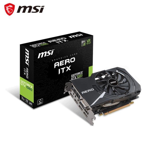 微星 GeForce GTX 1060 AERO 3G OC 顯示卡
