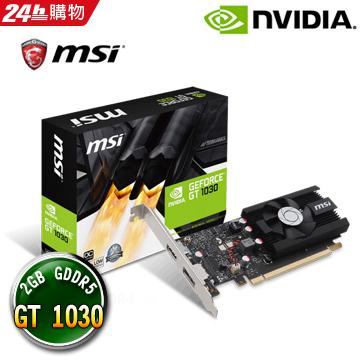 微星 GeForce GT 1030 2G LP OC 顯示卡