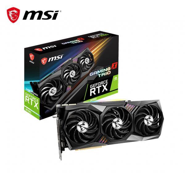 微星MSI GeForce RTX 3090 24G GAMING X TRIO PCI-E顯示卡