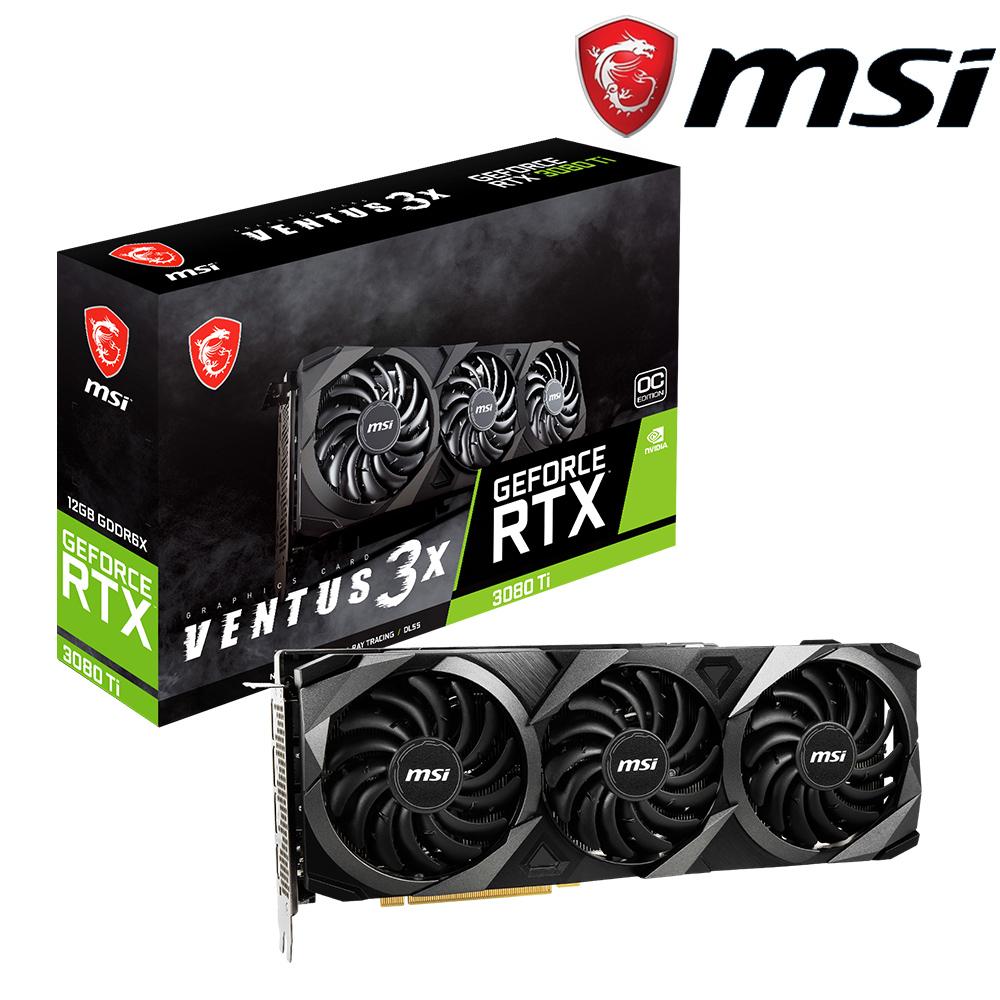 微星 GeForce RTX3080 Ti VENTUS 3X 12G OC 顯示卡