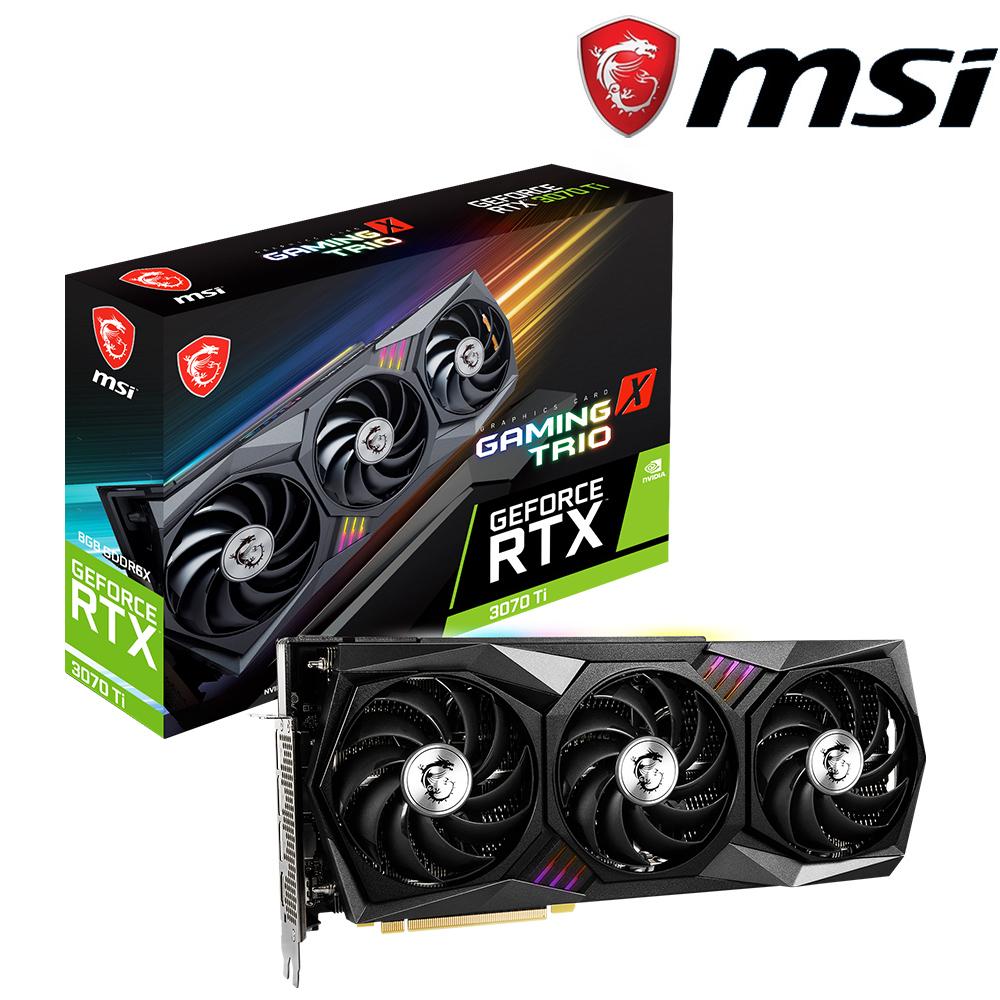 微星 GeForce RTX 3070 Ti GAMING X TRIO 8G 顯示卡